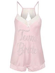 432e6fae451dda Diamante Team Bride Pyjama Set