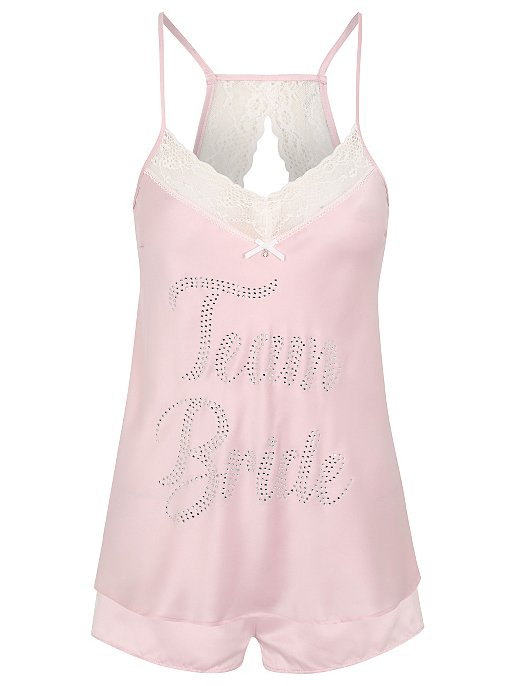 Diamante Team Bride Pyjama Set Women George