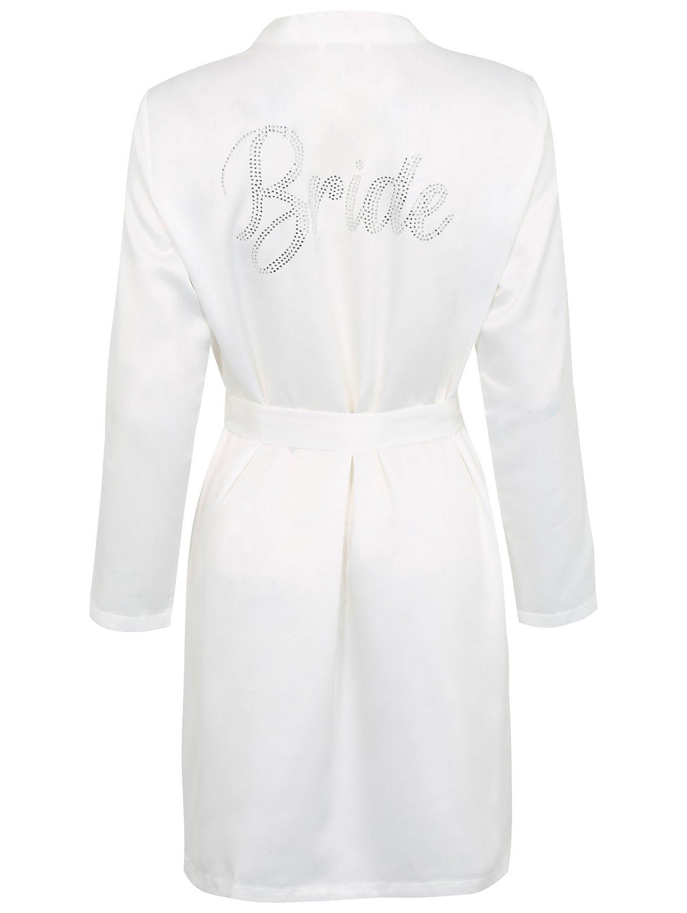 Diamante Bride Dressing Gown Women George