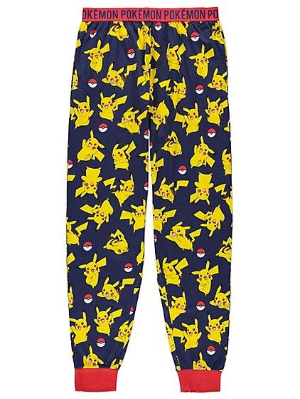 Pokemon Pikachu Cuffed Lounge Pants   Men   George