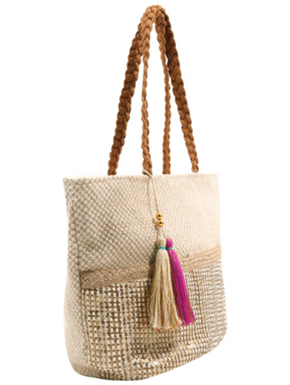 Sequin Tassel Detail Beach Bag | Women | George