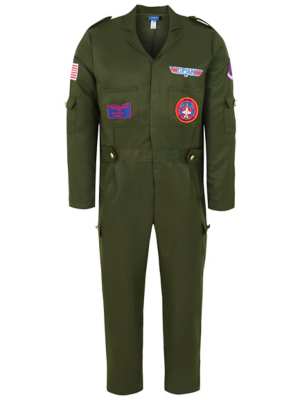 sc 1 st  George - Asda & Adult Top Gun Fancy Dress Costume | Men | George