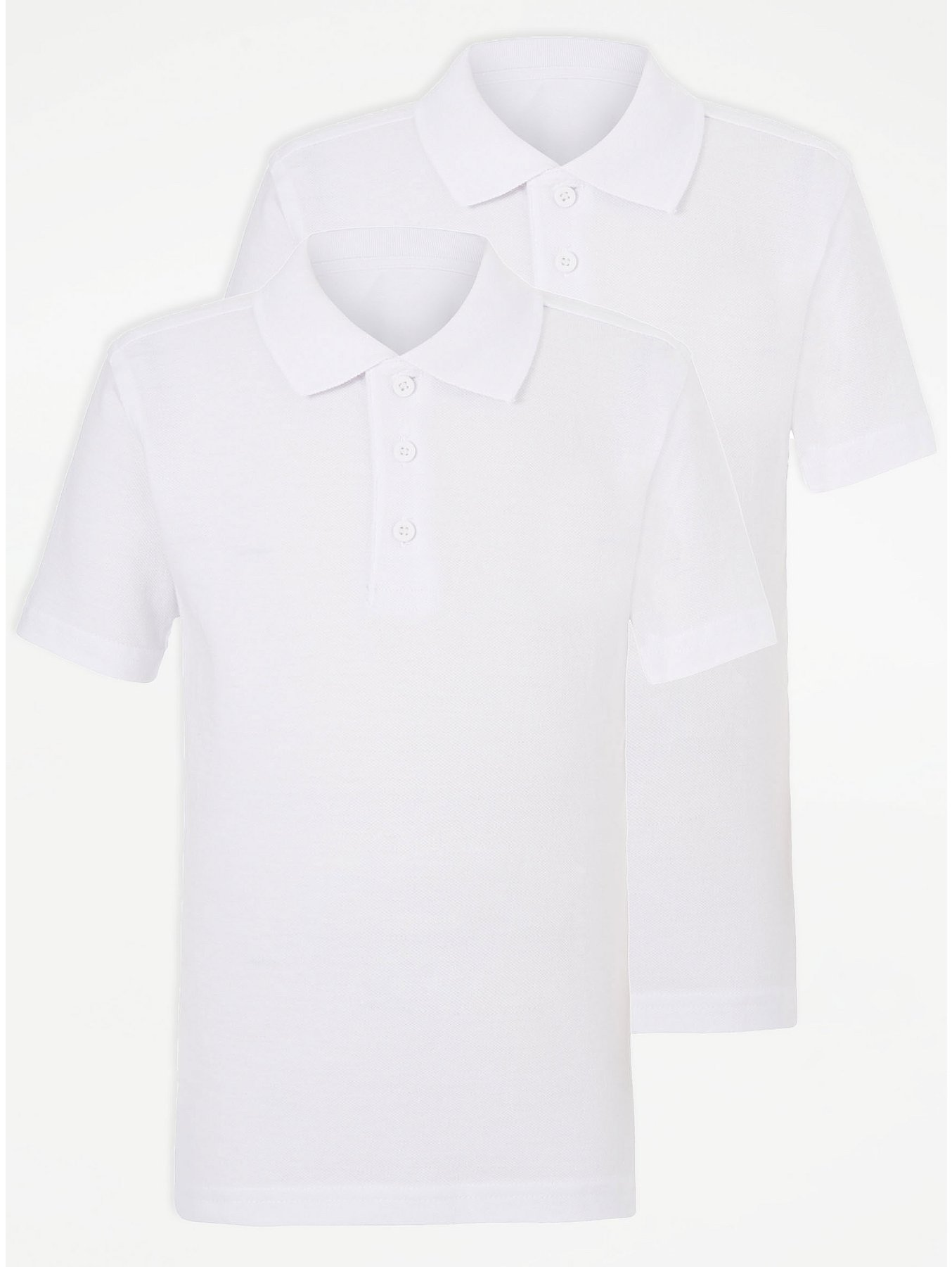 63c18c3e06 White Slim Fit School Polo Shirt 2 Pack