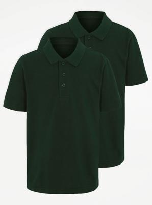 Bottle Green School Polo Shirt 2 Pack