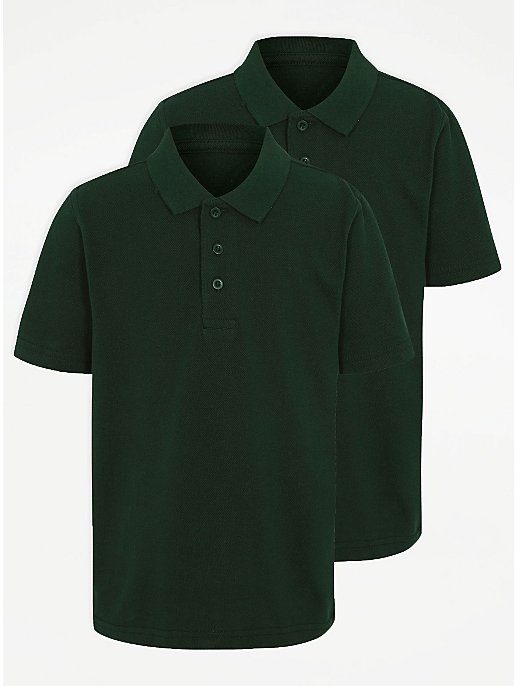 aba853afe8ab Bottle Green School Polo Shirt 2 Pack | School | George