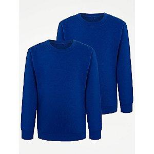 Cobalt Blue School Sweatshirt 2 Pack