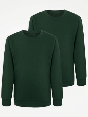 Bottle Green School Sweatshirt 2 Pack