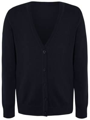Girls Navy School Cardigan