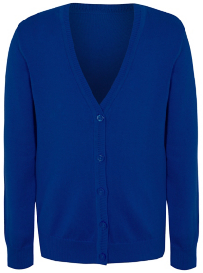 Girls Cobalt Blue School Cardigan | School | George
