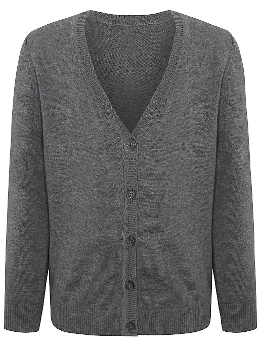 strong packing new varieties reputable site Girls Grey V-Neck School Cardigan