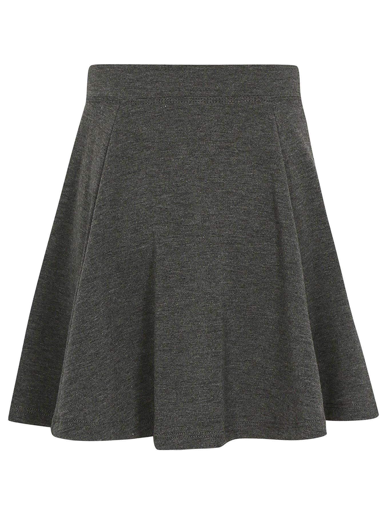 6290599a85 Girls School Jersey Skater Skirt – Grey | School | George at ASDA