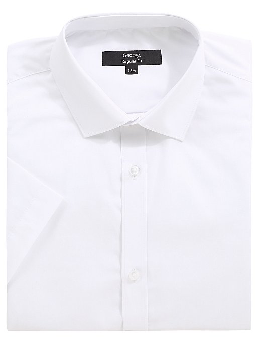 White Regular Fit Short Sleeve Shirts 2 Pack  a004c1274