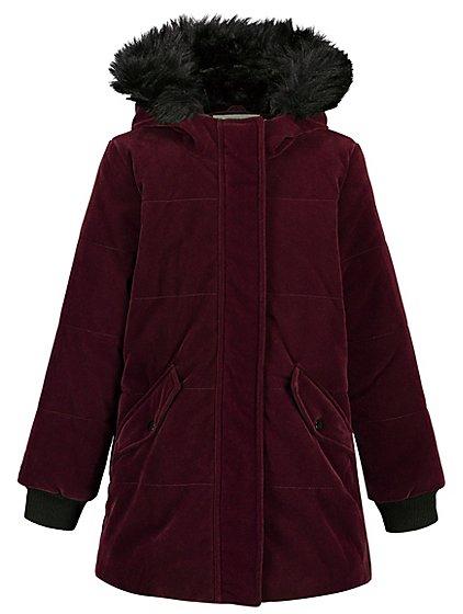 hooded padded coat kids george. Black Bedroom Furniture Sets. Home Design Ideas