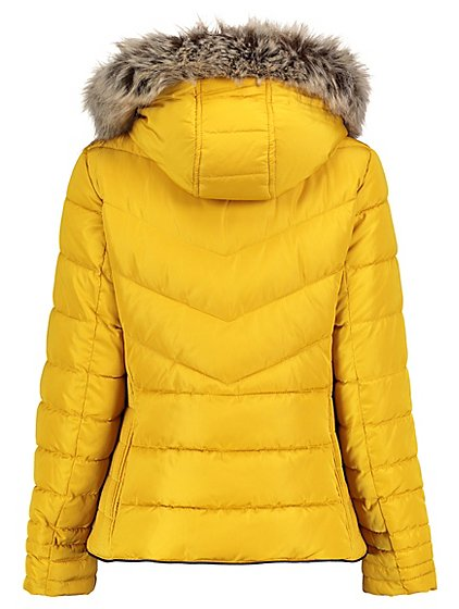 Faux Fur Trim Padded Coat | Women | George