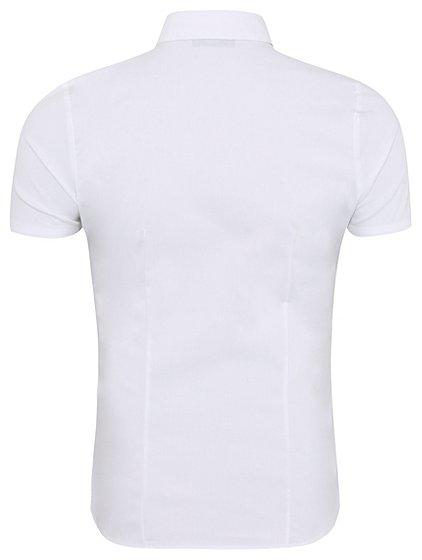Girls school stretch short sleeve shirt white school for Short sleeve school shirts
