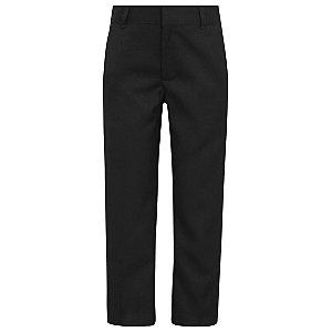 Boys Black Slim Fit Slim Leg Adjustable Waist School Trousers