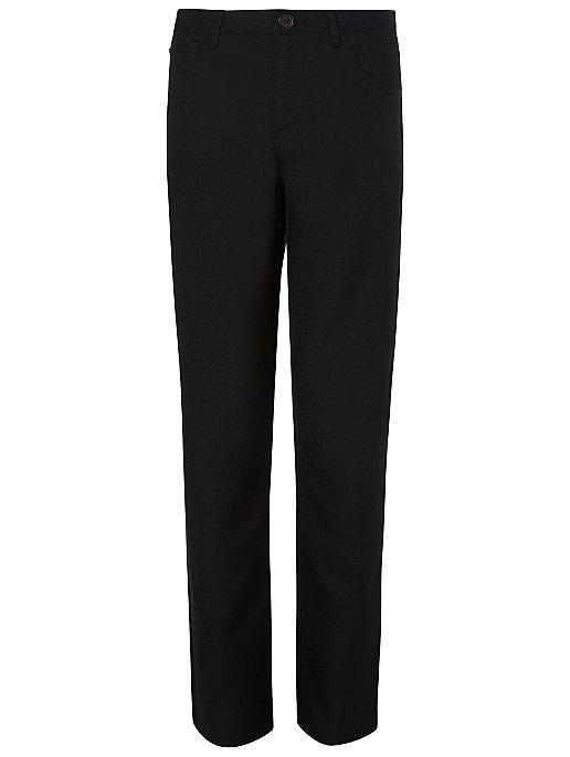 f29073fbe8ae Boys Black Stretch Slim Fit Skinny Leg School Trousers | School | George