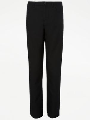 Boys Black Stretch Slim Leg School Trousers
