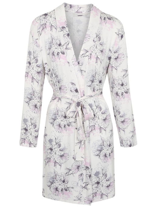Botanical Print Soft Touch Dressing Gown Women George