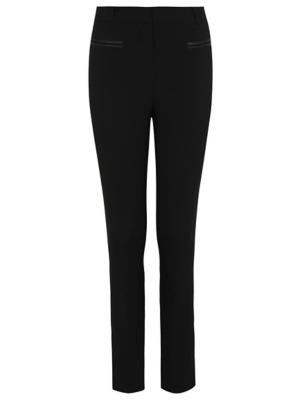 Senior Girls Black Straight Leg Pocket Detail School Trousers