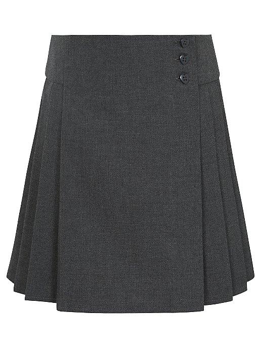 f37d267012 Girls School Heart Button Pleat Skirt – Grey | School | George at ASDA
