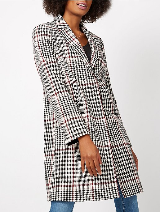 9dc600346 Checked Formal Coat