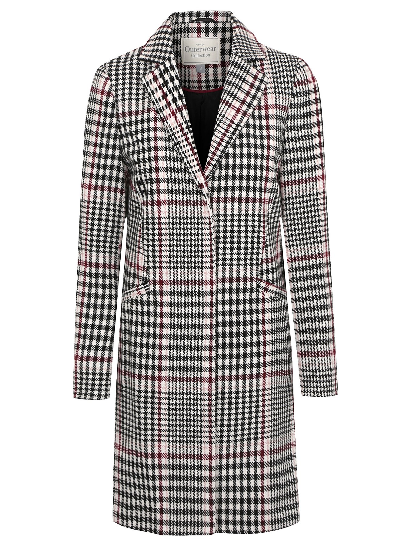 Checked Formal Coat | Women | George