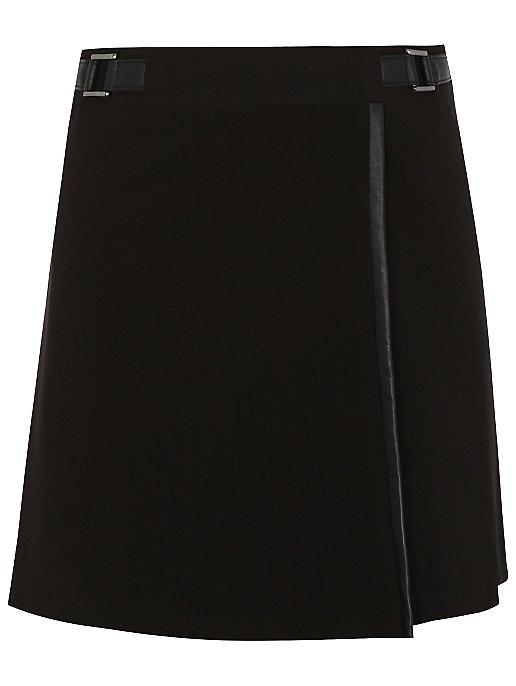 fe5c1dfdf670 Senior Girls Black A-Line School Wrap Skirt | School | George