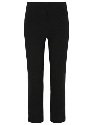 Senior Girls Black Stretch Skinny Leg School Trousers