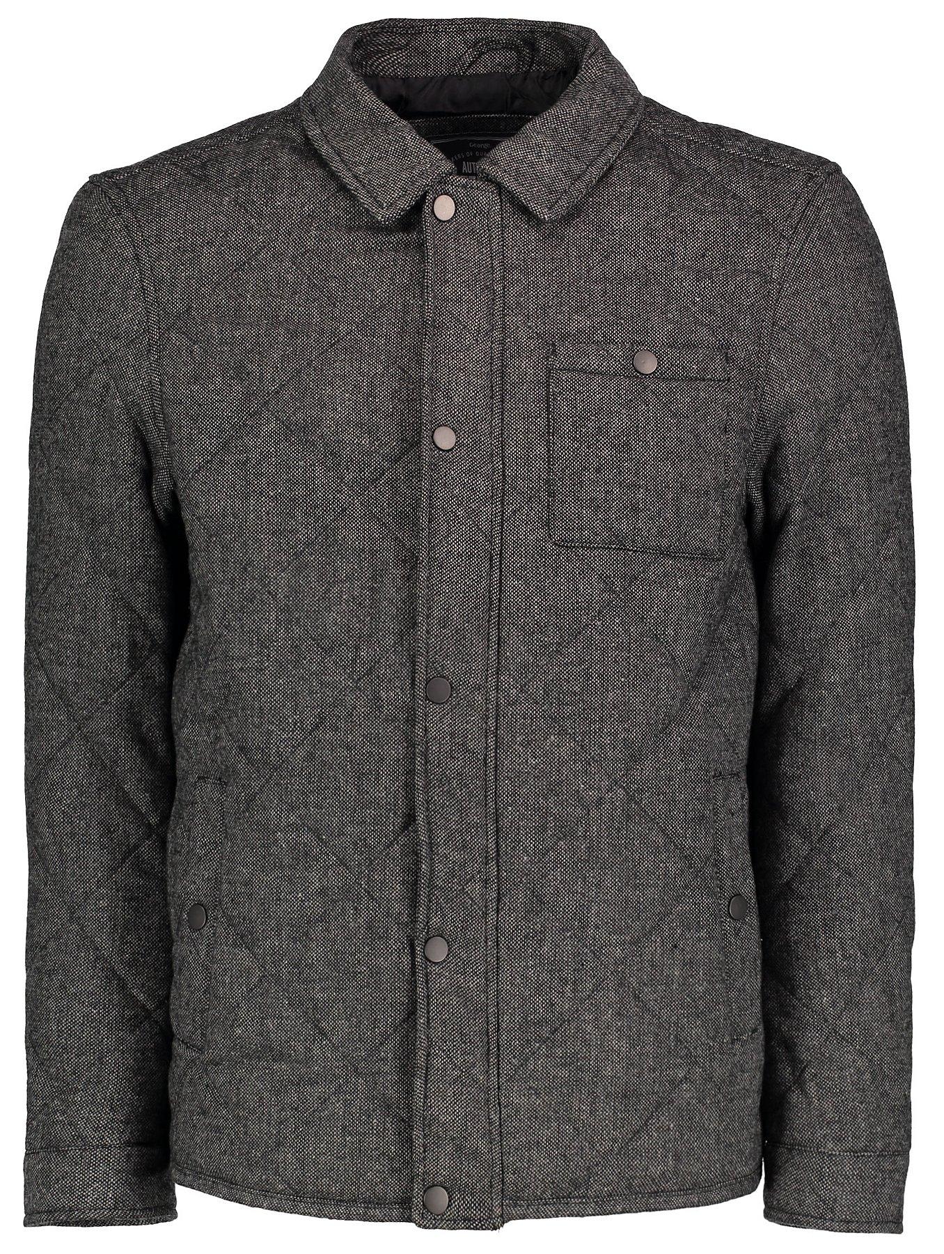 Wool-Blend Padded Shirt   Men   George