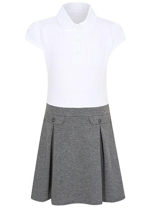 Girls School 2 In 1 Jersey Dress Grey School George At Asda