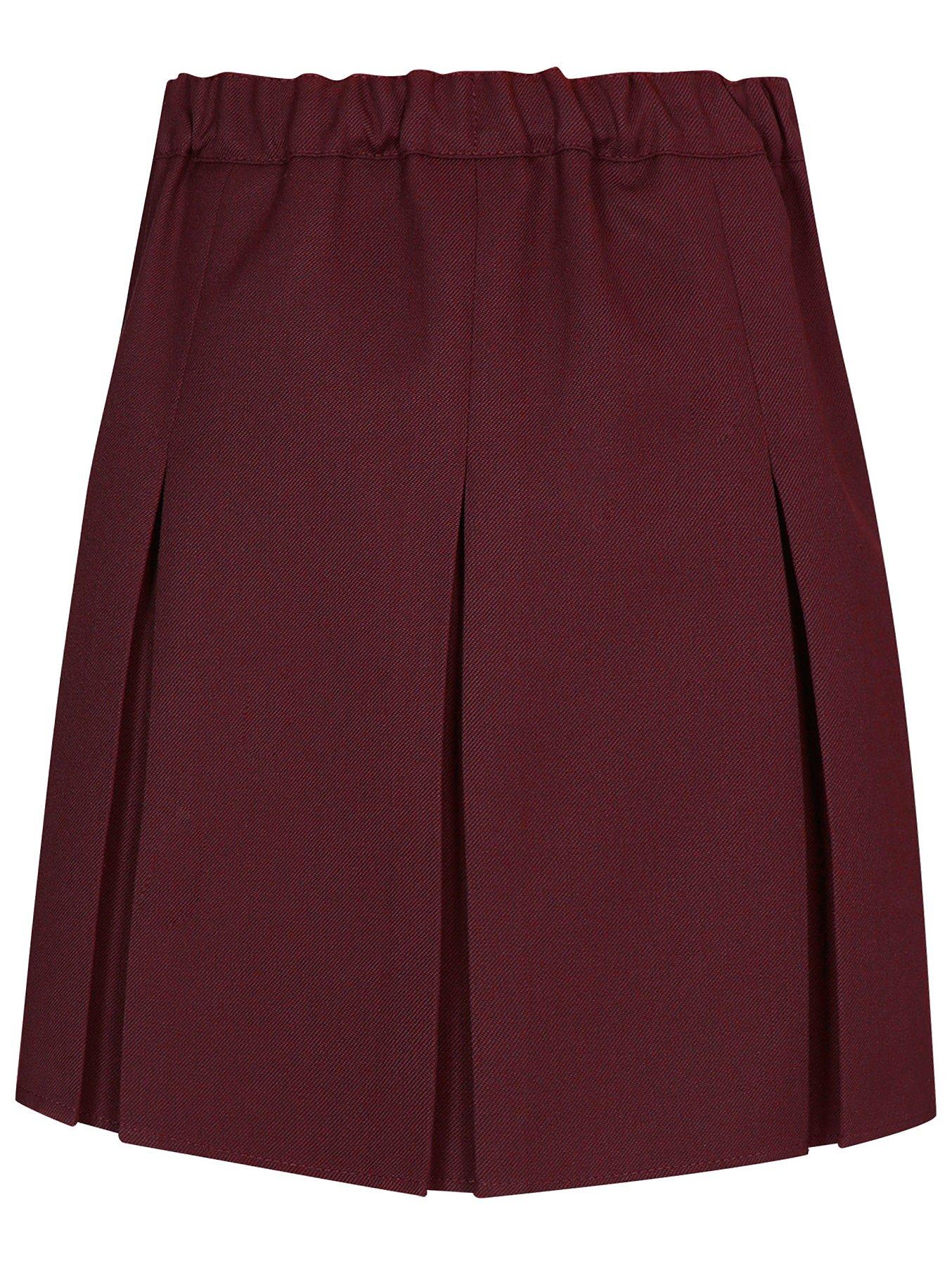 a42f9b0e6 Girls Burgundy Pleated School Skirt | School | George
