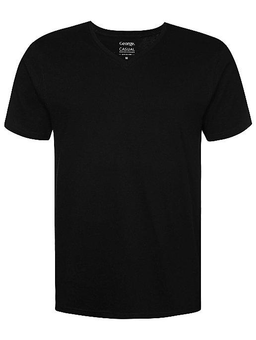 f90ed385 Black V-Neck T-Shirt | Men | George