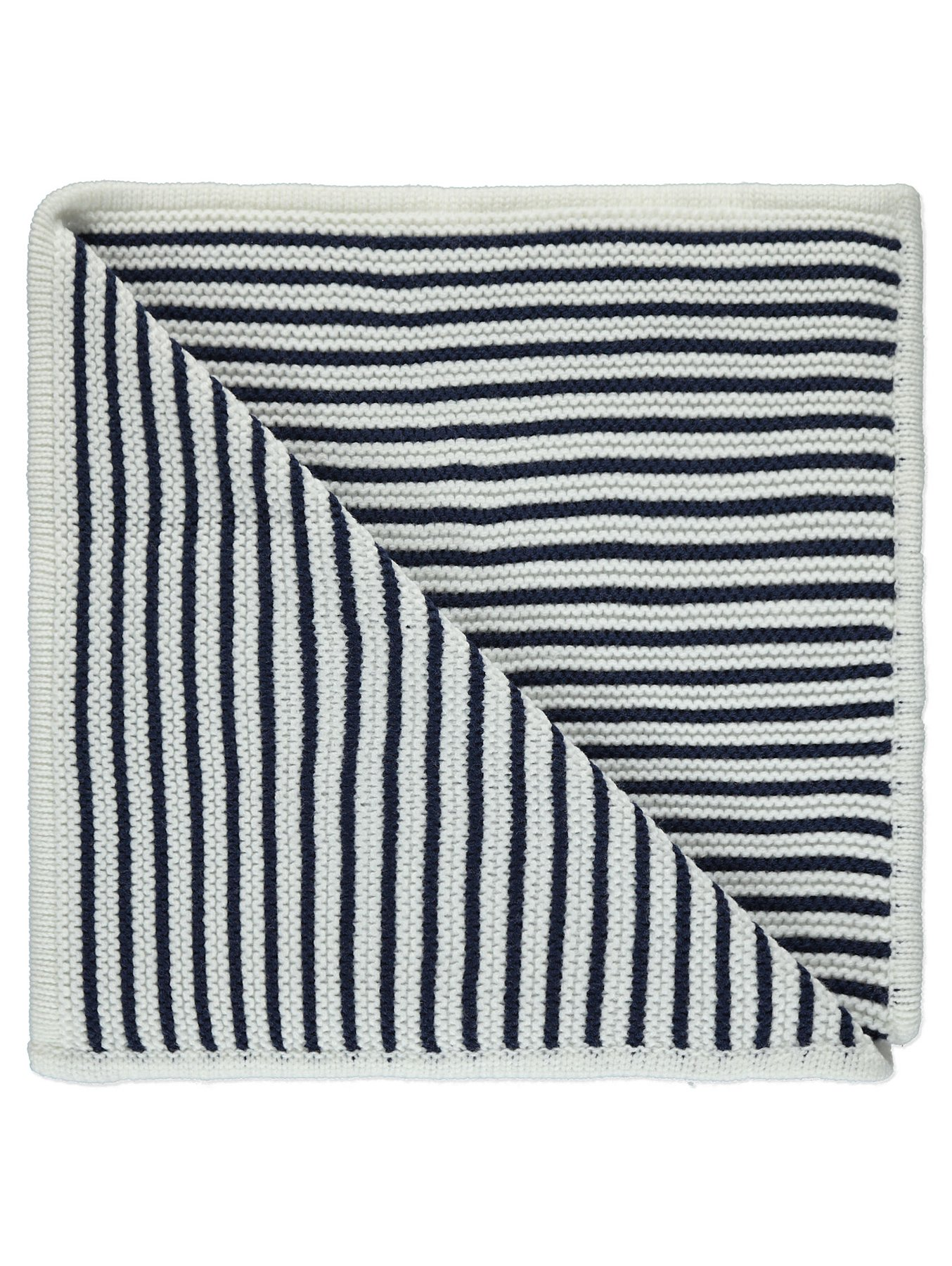 Navy Nautical Knitted Shawl Baby George