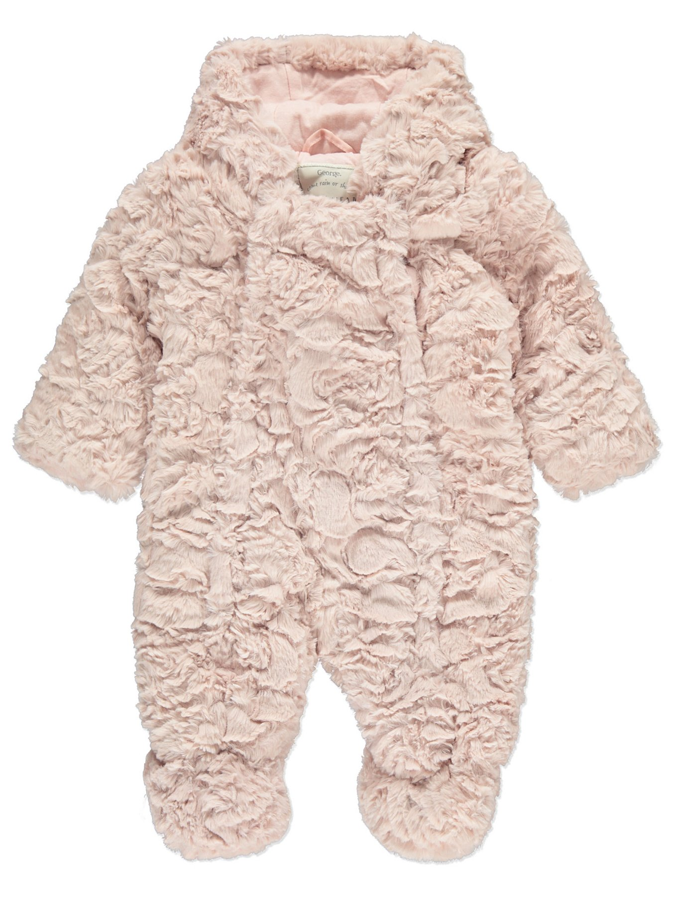 a2a1c8837 Faux Fur Hooded Pramsuit | Baby | George