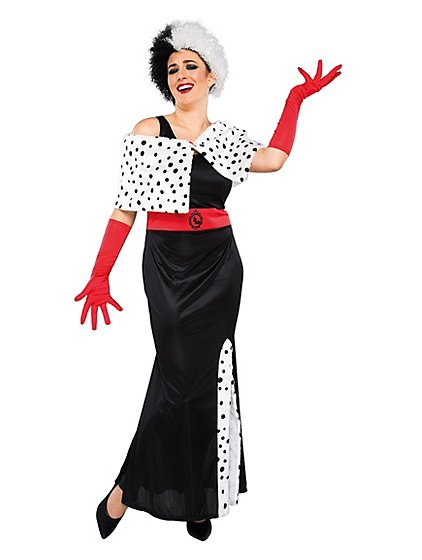 adult disney cruella de vil fancy dress costume women george. Black Bedroom Furniture Sets. Home Design Ideas