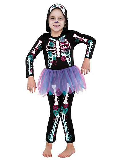 halloween skeleton with tutu fancy dress costume kids george