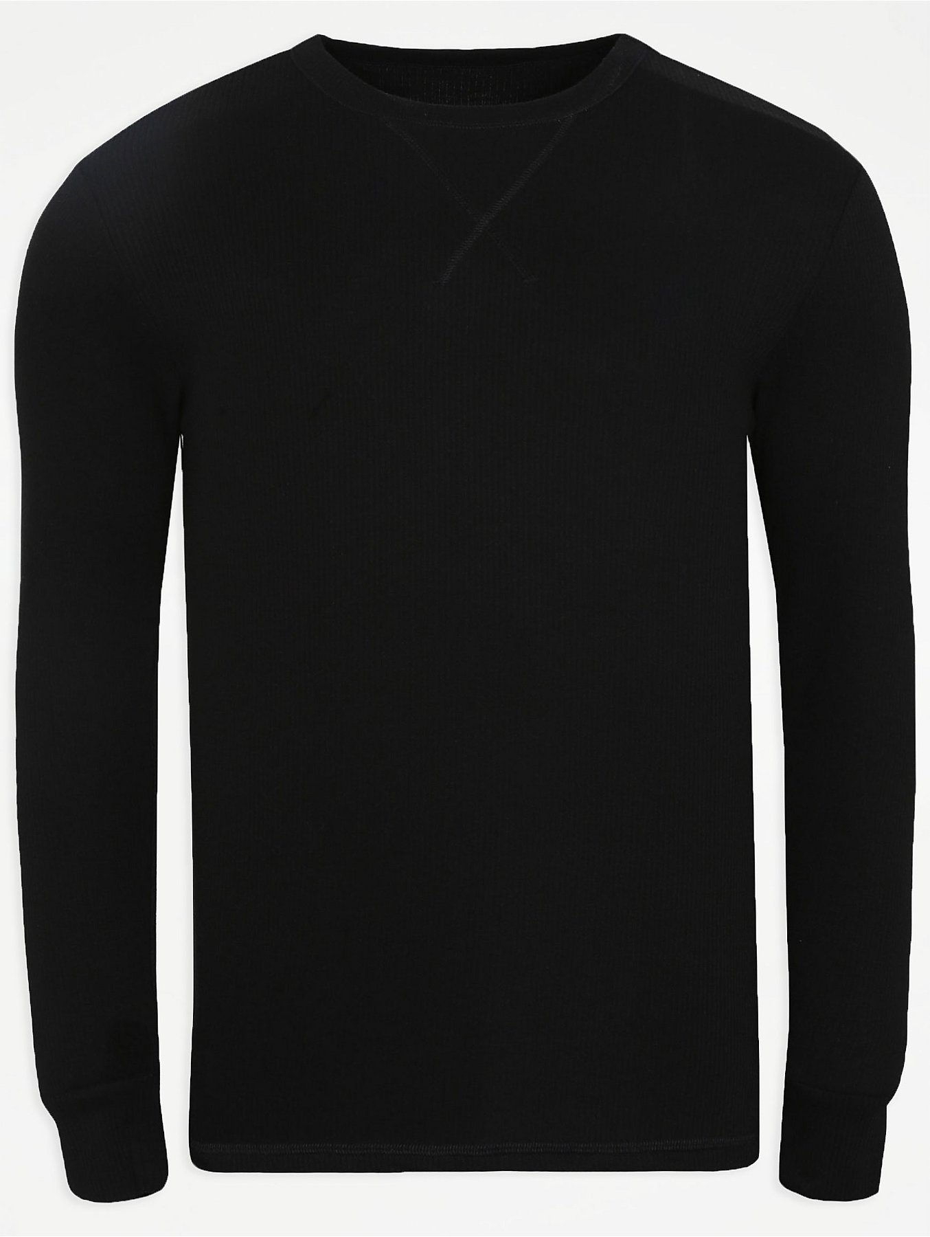 636964d6f55ca Thermal Crew Neck Long Sleeve Top