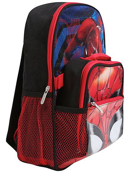 marvel spider man homecoming rucksack with lunch bag. Black Bedroom Furniture Sets. Home Design Ideas