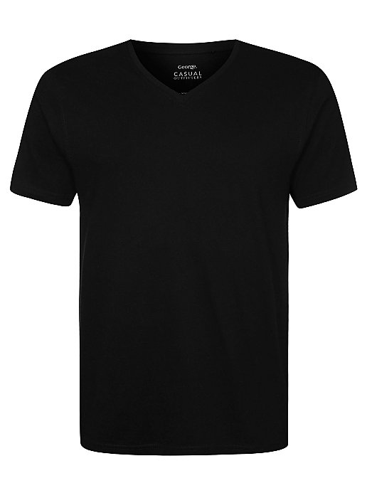 df0683c2f2dfc Black V-Neck T-Shirt
