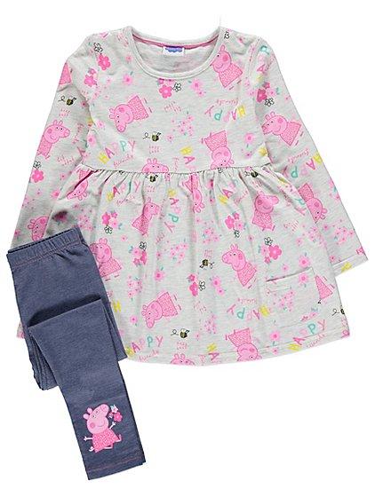 Peppa Pig Dress and Jeggings Set   Kids   George