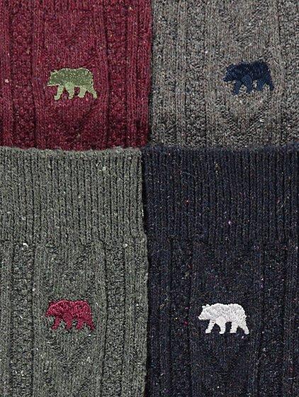 Bear Motif Thermal Knitted Socks 4 Pack | Men | George