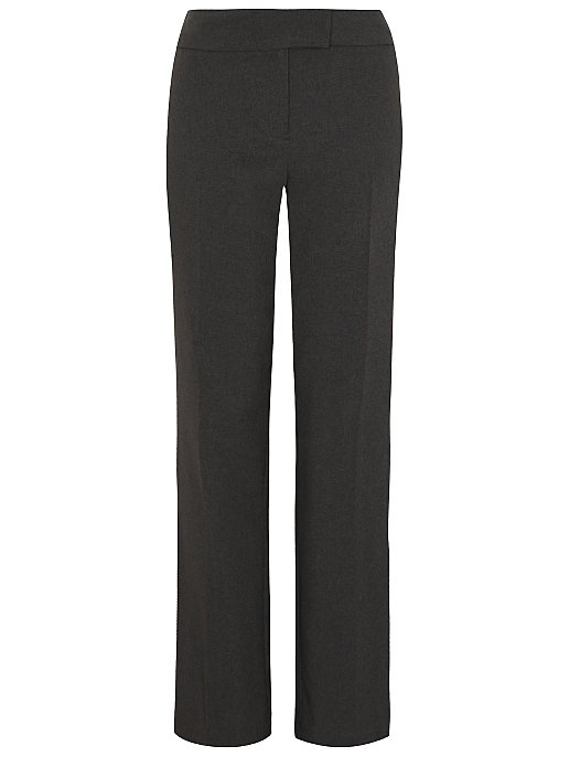 Lovely Smart Charcoal Grey Trouser Suit Size 12r Yet Not Vulgar Women's Clothing
