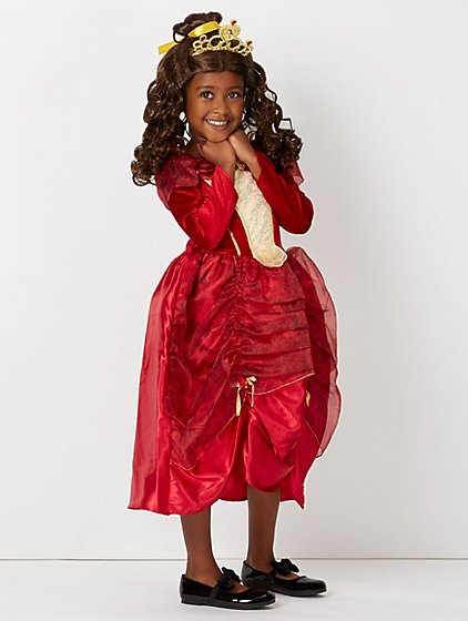 Disney Beauty And The Beast Princess Belle Red Dress