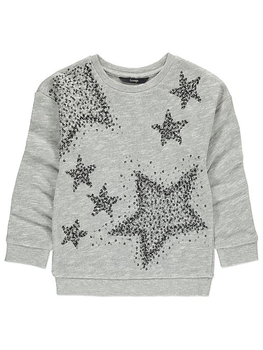 1a0639f4 Star Embellished Sweatshirt   Kids   George