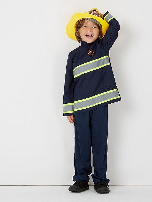 Firefighter Fancy Dress Costume Kids George