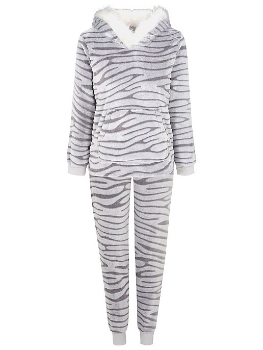 Fleece Hooded Pyjama Set. Reset 625c1e36e