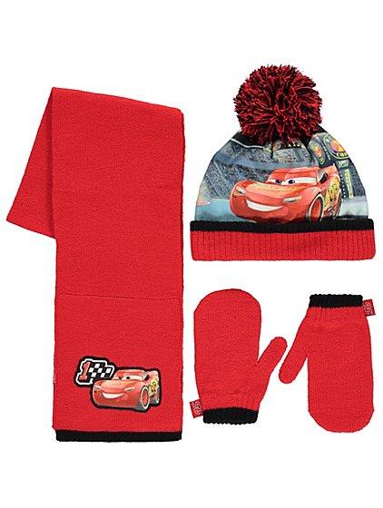 8129e4d1c2c ... top quality disney pixar cars 3 3 piece hat scarf and gloves set kids  george 3b741