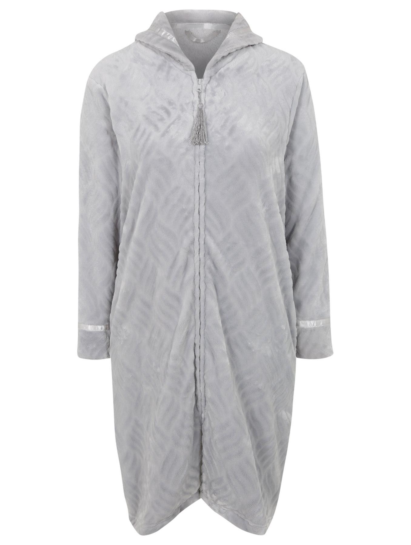 Zip Up Fleece Dressing Gown Women George