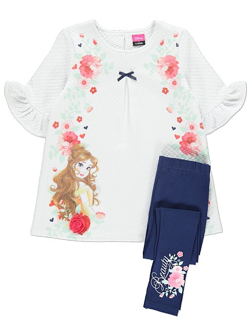 0f892e8874256 Disney Princess Belle Dress and Leggings | Kids | George